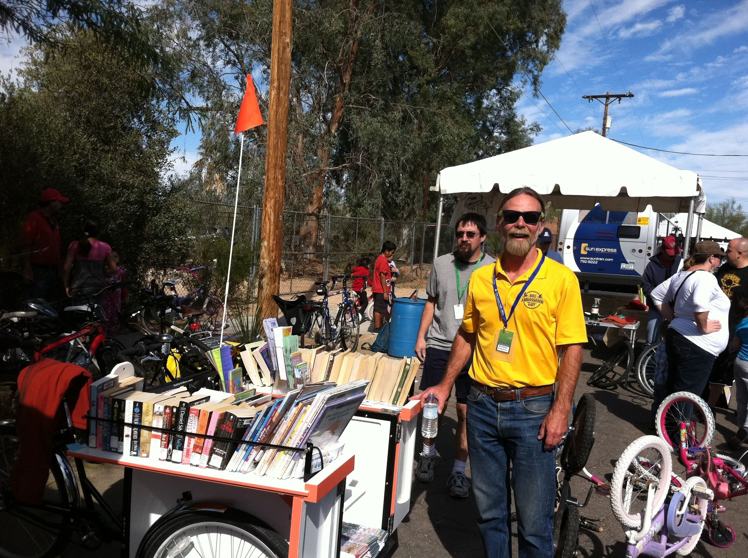 Bookbike at community event