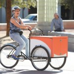 Staff member on Bookbike