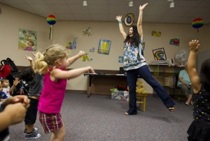 Jumping high at a Storytime