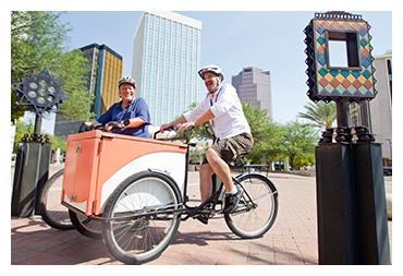 Photo of the Library's Bookbike