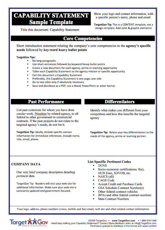 Best Capability Statement Template Pictures - Office Resume Sample ...