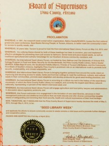 Seed Library Week proclamation