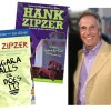 Henry Winkler with book covers of his children's books