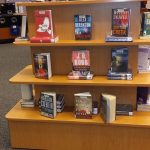 Book display stand at Miller-Golf Links Library
